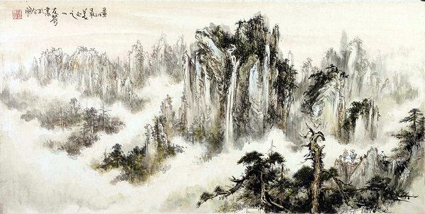 2005年观景台(2015年题字)(138×69cm)