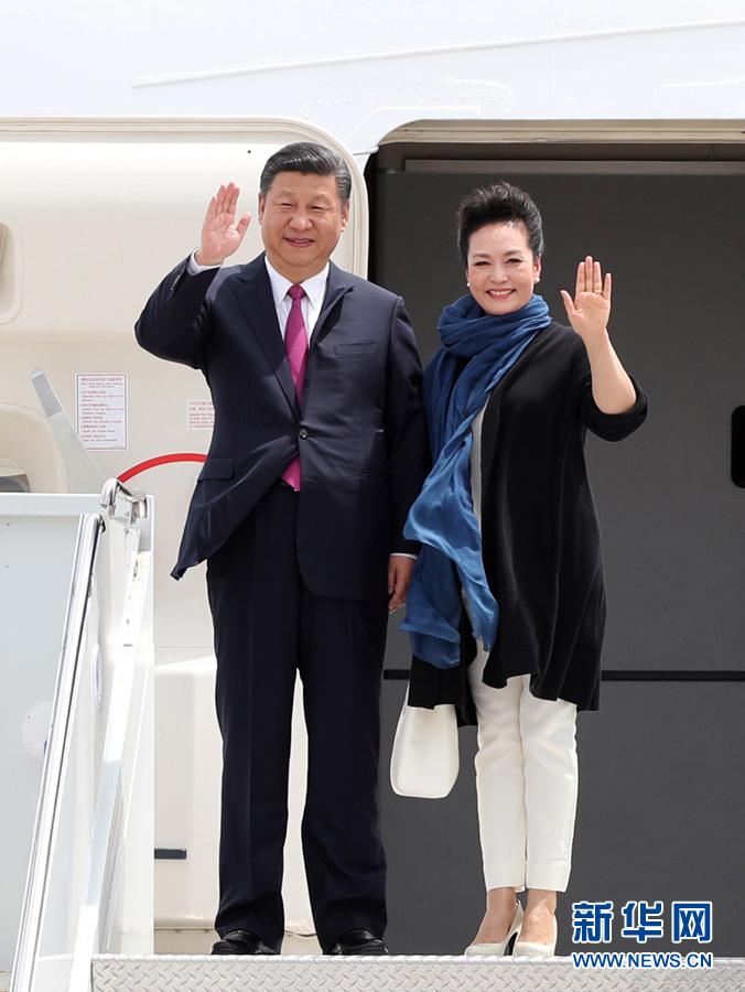 Presidente chino llega a Florida para su primera reunión con Trump