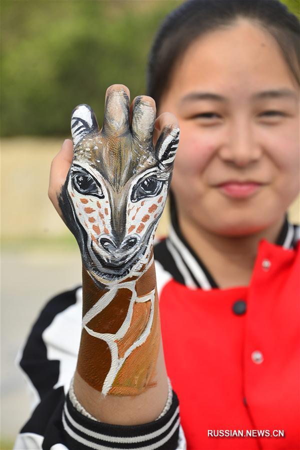 Студенты-художники из Ляочэна оригинальным способом призвали к защите редких животных