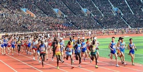В Пхеньяне прошел международный легкоатлетический марафон