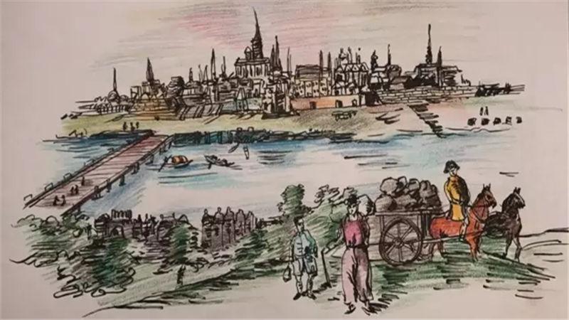 ▲手绘图:维也纳远眺景致