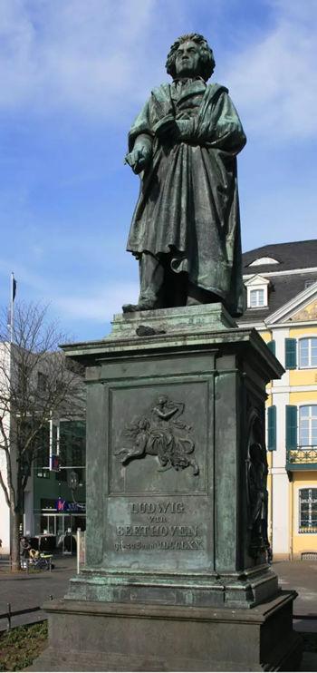 ▲位于波恩的贝多芬雕塑