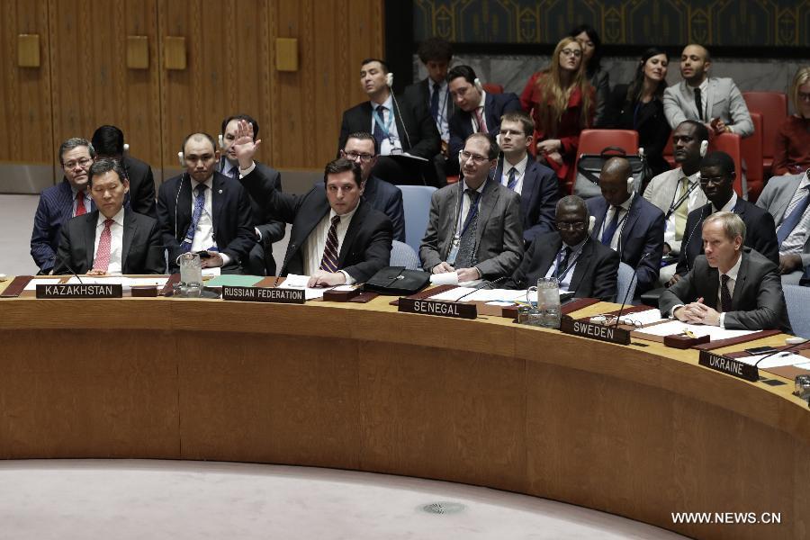 La Russie oppose son veto à un projet de résolution du Conseil de sécurité de l