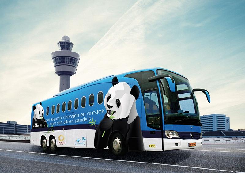荷兰航空公司宣传大客车