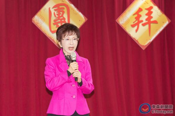 """国民党主席洪秀柱。(图片来源:台湾""""东森新闻云"""")"""