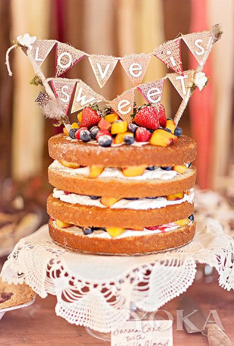 水果单层裸蛋糕