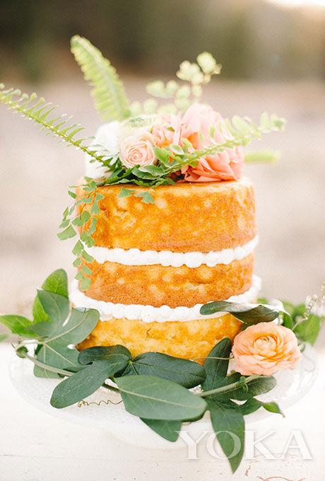 香草单层裸蛋糕