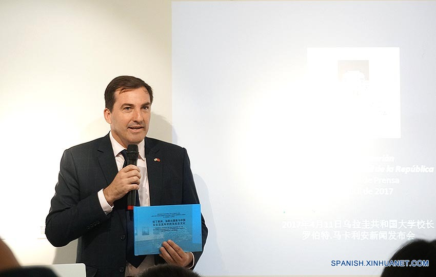 Fernando Lugris, embajador uruguayo en China.(Xinhuanet/Guo Mengyan)