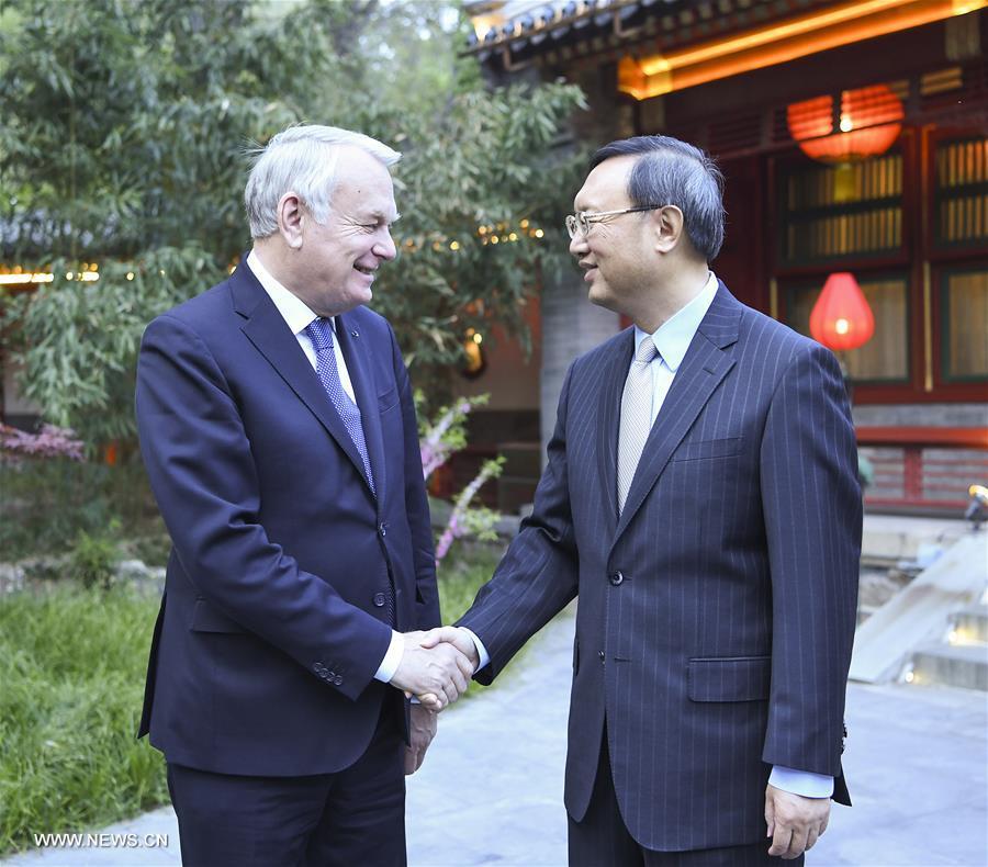 Yang Jiechi rencontre le ministre français des Affaires étrangères