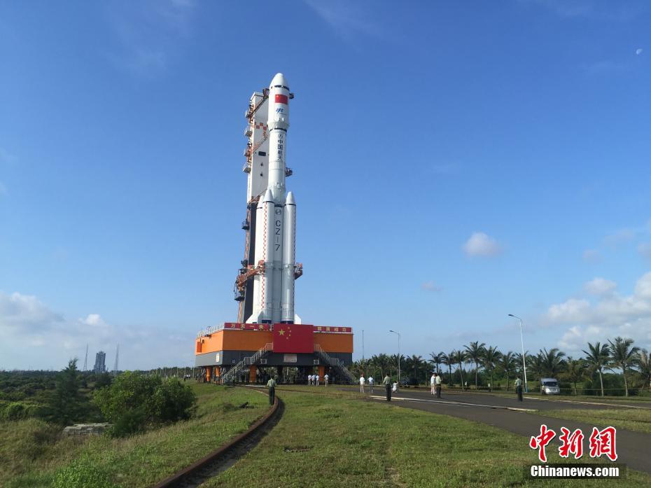 Transport vertical de Tianzhou-1 terminé