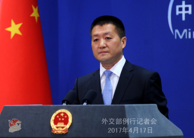 The United States is welcome to play a positive role in peacefully resolving the Korean Peninsula nuclear issue, said Foreign Ministry spokesman Lu Kang on Monday.