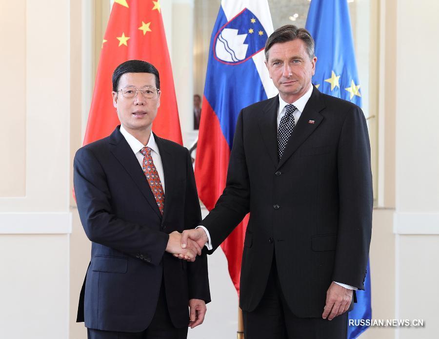 Чжан Гаоли совершил визит в Словению