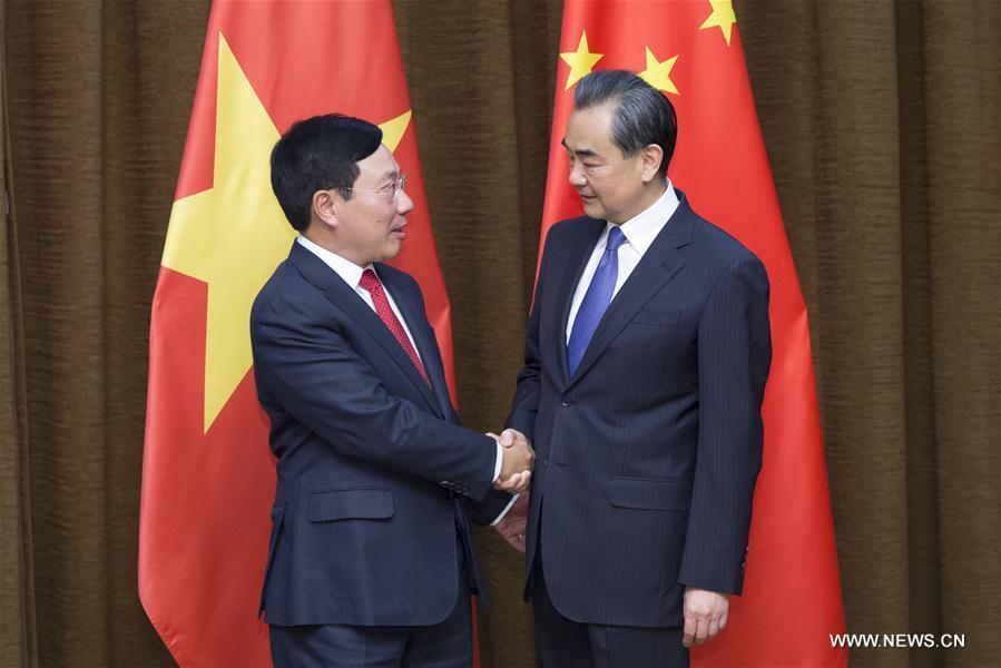 Le ministre chinois des A.E. rencontre le vice-Premier ministre vietnamien