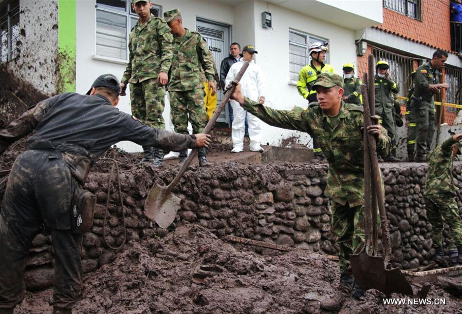 Colombie : au moins 11 morts dans des glissements de terrain