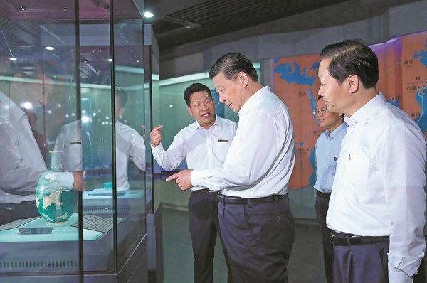 President Xi Jinping visits the Hepu Han Dynasty Museum in Beihai, south China