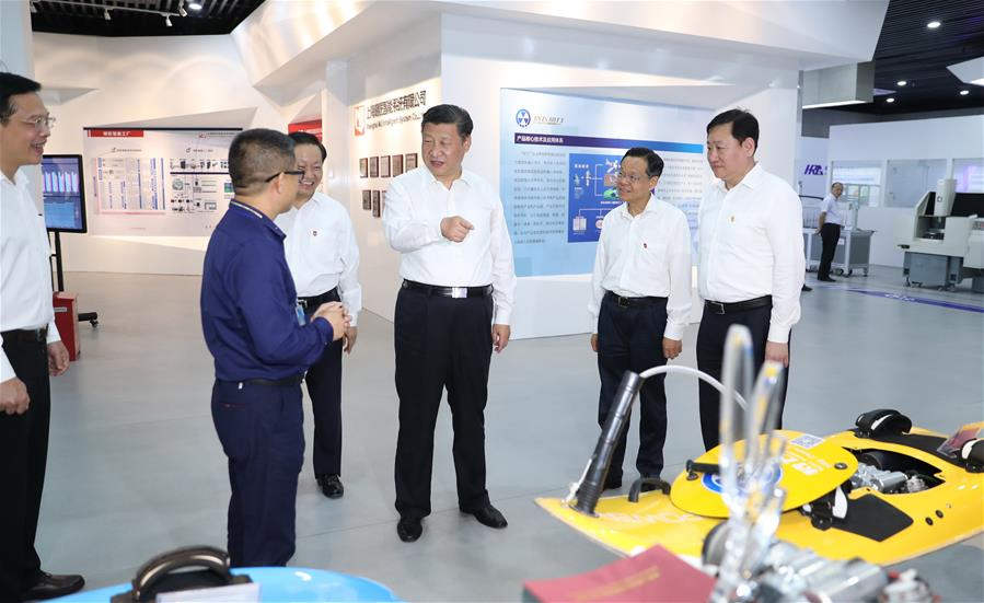 Chinese President Xi Jinping inspects Nanning-Zhongguancun innovation demonstration base in Nanning City of south China