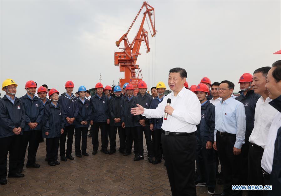 """Xi Jinping exhorte le Guangxi à jouer un rôle plus important dans """"la Ceinture et la Route"""""""