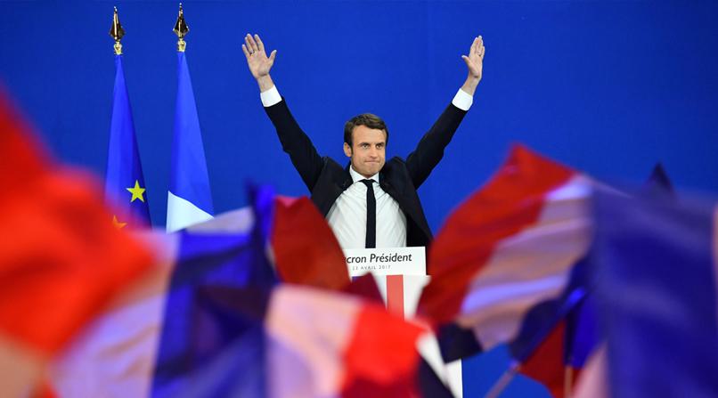 Macron et Le Pen en tête du premier tour