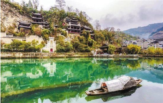 贵州的房子风景线稿