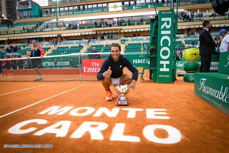Tenis: Español Rafael Nadal conquista décimo Master 1000 de Montecarlo
