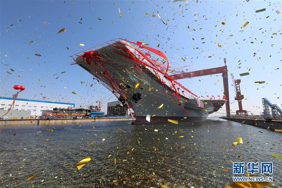 Китай готовится спустить на воду первый самостоятельно построенный авианосец