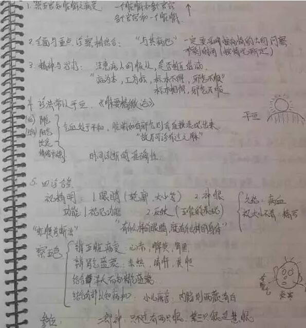 格里申用中文写笔记