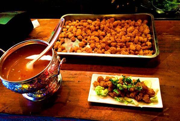 正宗的台湾盐酥鸡。(中国台湾网 高斯斯 摄)