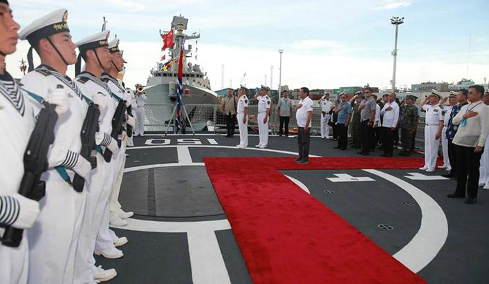 A Chinese naval fleet is on a three-day goodwill visit to the Philippines.