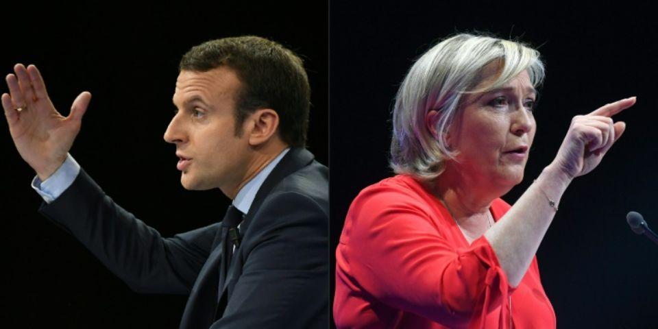Emmanuel Macron et Marine Le Pen s