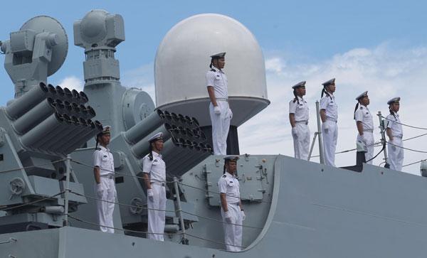 La Marine chinoise effectue sa première visite dans la ville de Davao