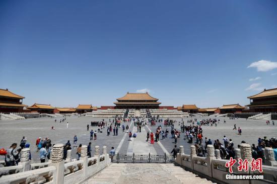 游客游览故宫(资料图)。 中新社记者 杜洋 摄