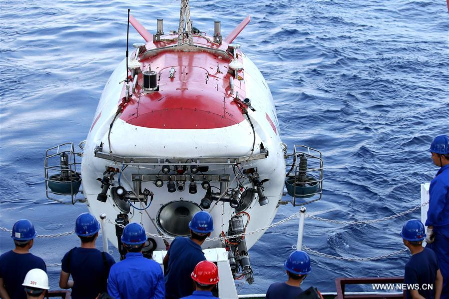 Le submersible chinois Jiaolong effectue sa 7e plongée en mer de Chine méridionale