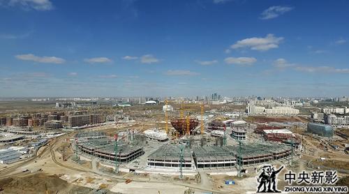 哈萨克斯坦阿斯塔纳世博会建筑工地