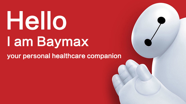 """Photo of """"Baymax,"""" a super hero and a personal healthcare companion appearing in American comic books published by Marvel Comics. [Photo: China Plus]"""