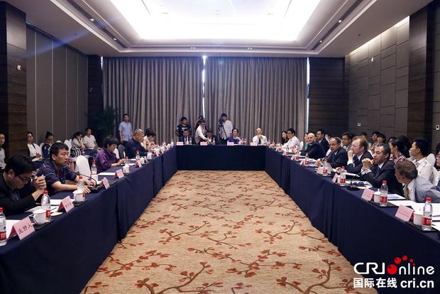 """5月10日,""""一带一路""""中外专家主题研讨会在京举行。金近 摄"""