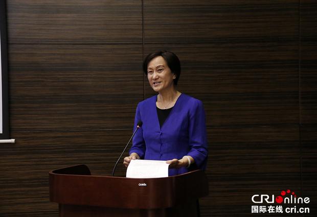中国国际广播电台副总编李萍在致辞。金近 摄