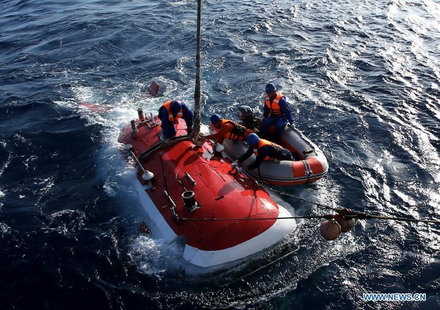 Le submersible chinois Jiaolong achève ses plongées en mer de Chine méridionale