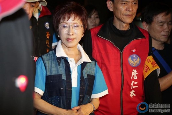 """洪秀柱盼两岸统一。(图片来源:台湾""""东森新闻云"""")"""