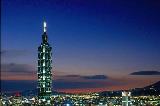 台湾地标建筑101大楼