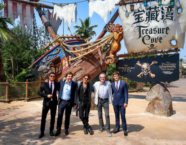 """Pirates of the Caribbean: Dead Men Tell No Tales"""" had its world premiere in Shanghai, at Shanghai Disney Resort on Thursday."""