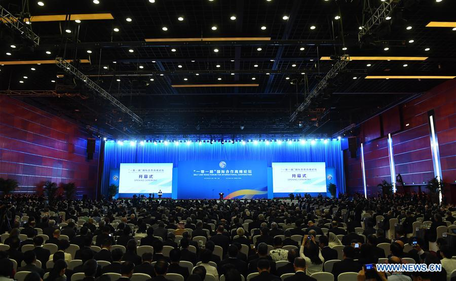 The opening ceremony of the Belt and Road Forum (BRF) for International Cooperation is held in Beijing, capital of China, May 14, 2017. (Xinhua/Zhang Duo)