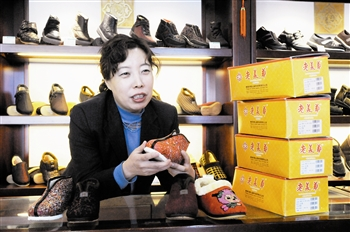 Laomeihua became well-known for making and selling shoes designed for the generation of Chinese women like Dong