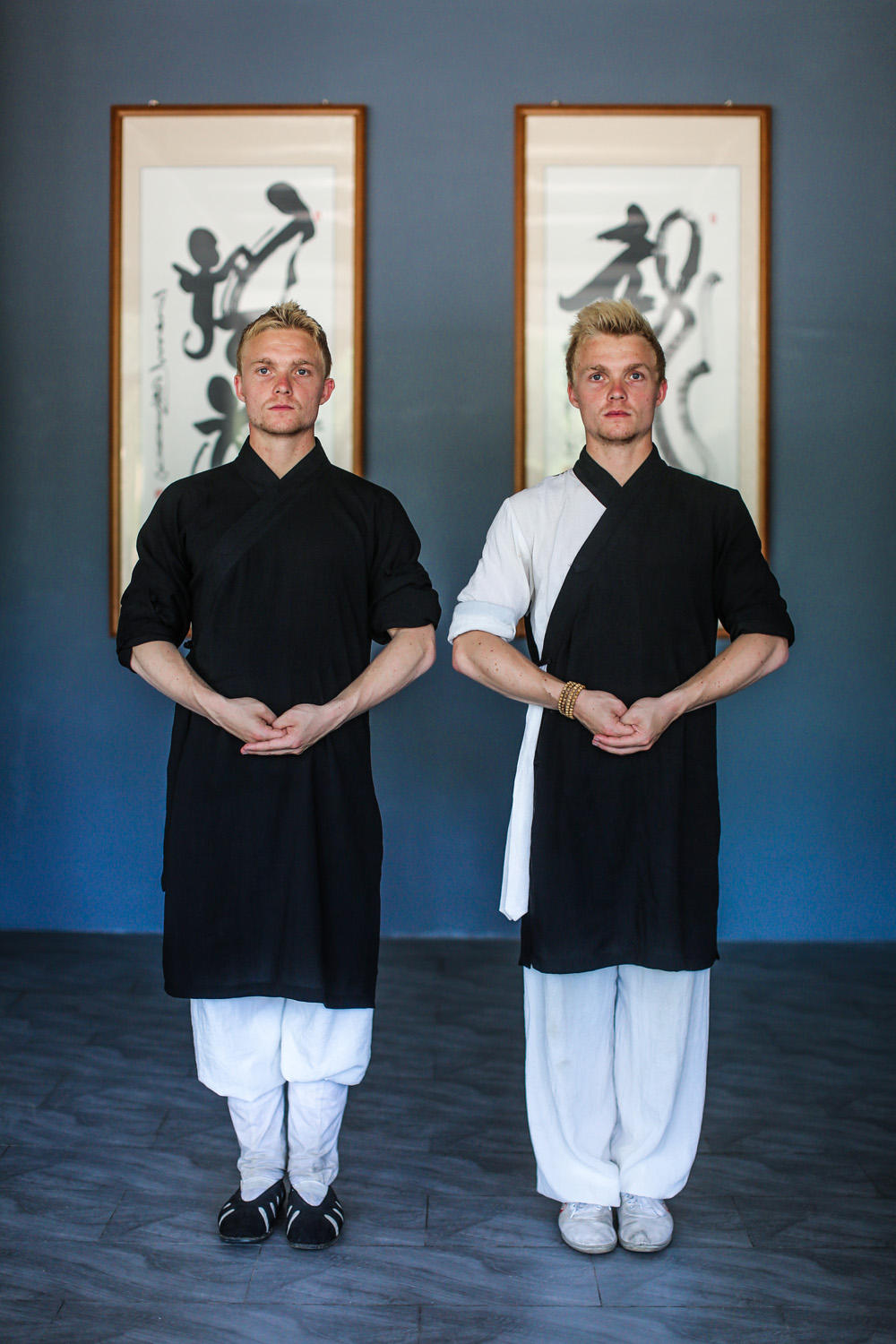 Kristian and Roar, twin brothers from Norway, are devoting themselves to learning Tai Chi on Wudang Mountain.