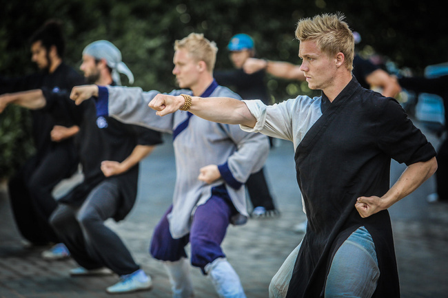 The 24-year old twins have been studying Tai Chi for more than a year.