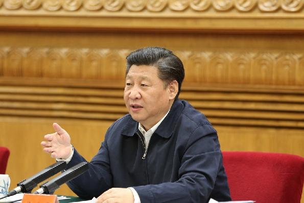 图:2016年5月17日,中共中央总书记、国家主席、中央军委主席习近平在北京主持召开哲学社会科学工作座谈会并发表重要讲话。