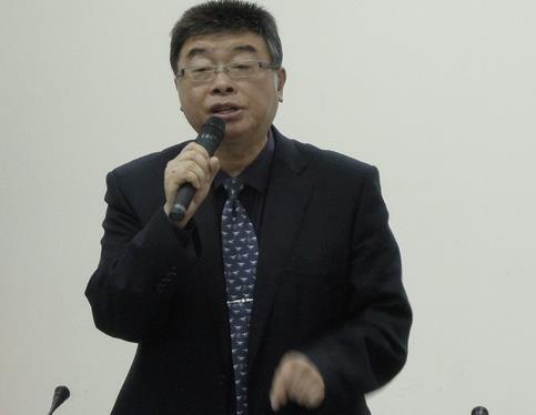 """邱毅。(图片来源:台湾""""东森新闻云"""")"""