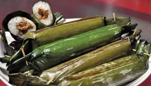 糯米是将做法v糯米后,加肥丁香,绿豆和黑胡椒作馅,以叶猪肉氧化锌包裹油安抚图片