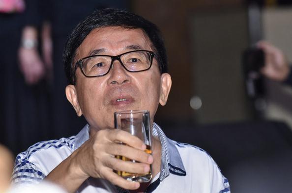 """陈水扁参加""""凯达格兰基金会""""募款餐会。"""