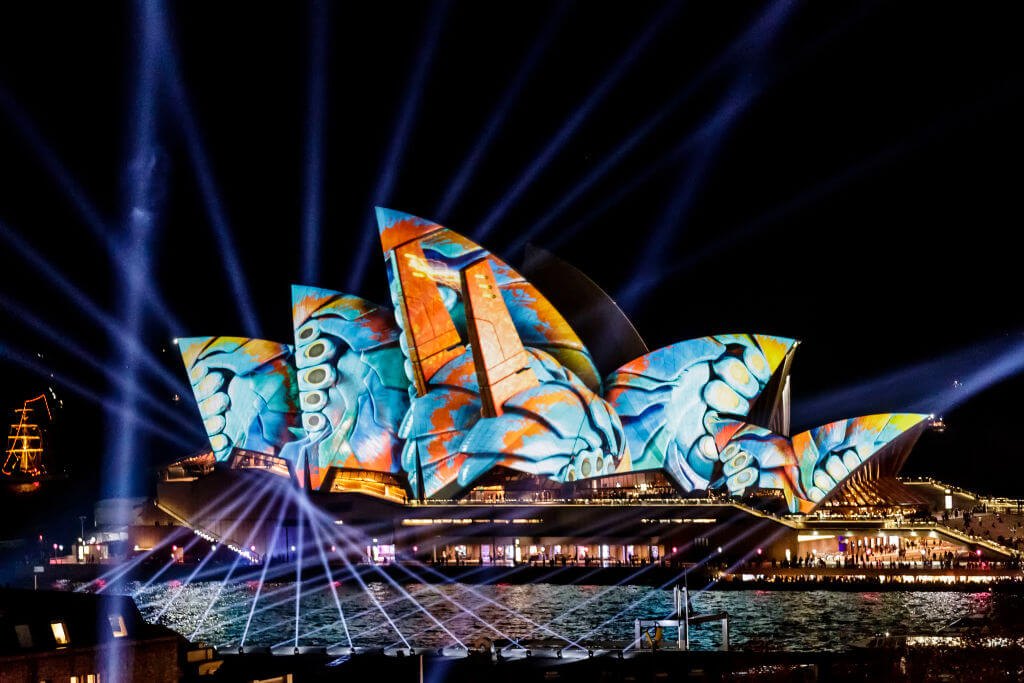 The festival features an array of incredible and clever art installations and events happening every night throughout seven precincts in the city of Sydney.