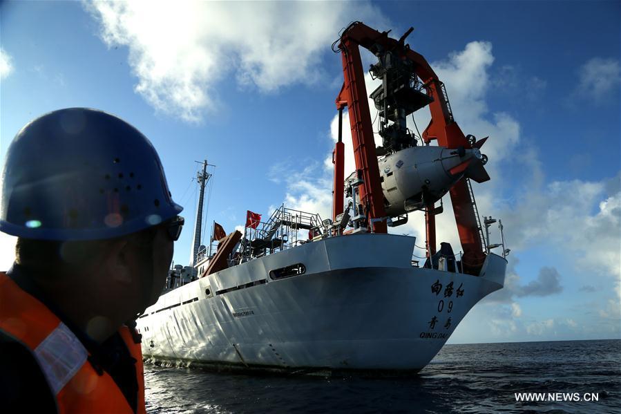 Cinquième plongée du Jiaolong dans la fosse des Mariannes